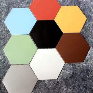 Gạch lục giác lát nền đơn sắc