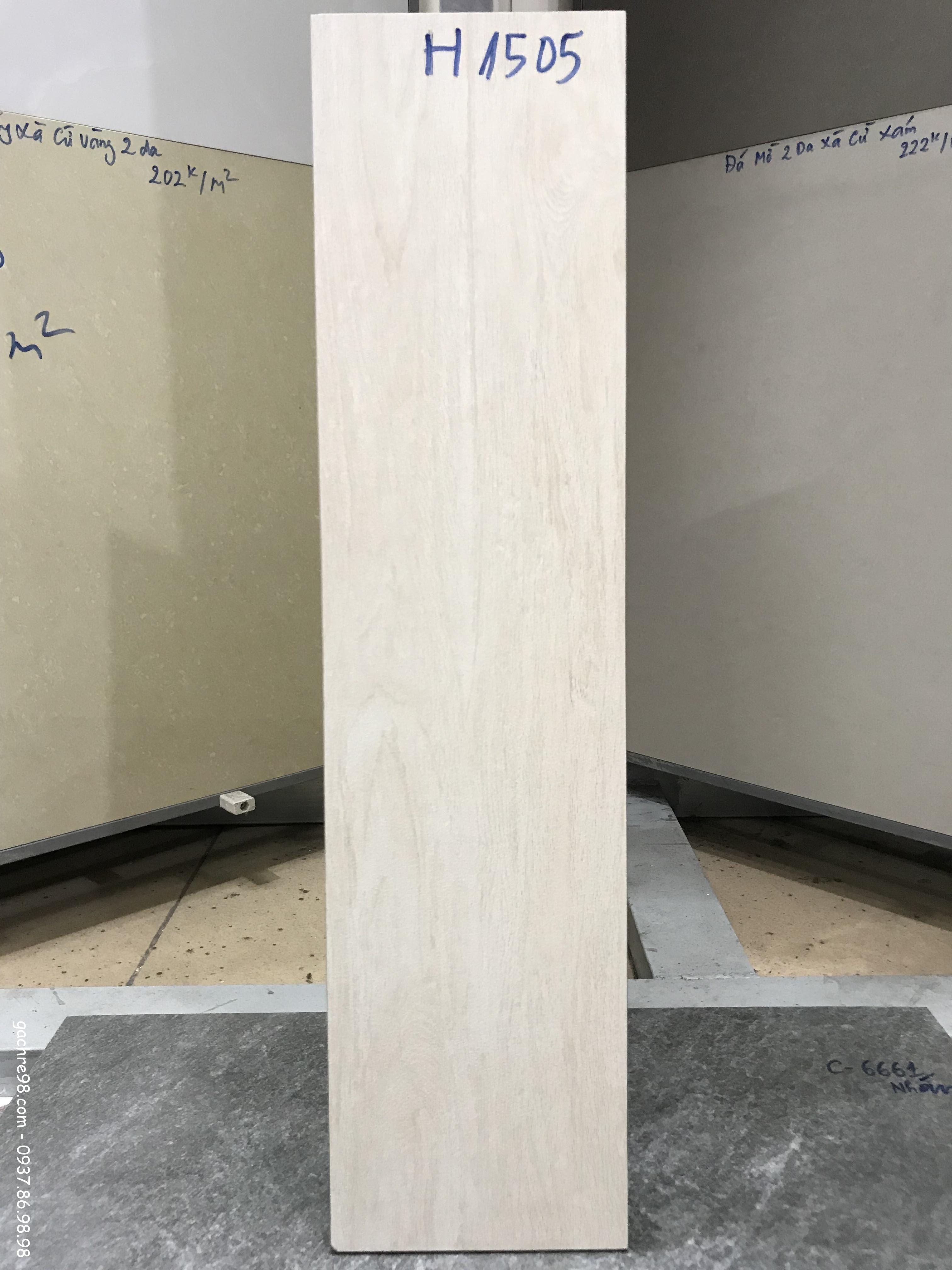 Gạch ốp chân tường giả gỗ 15x60
