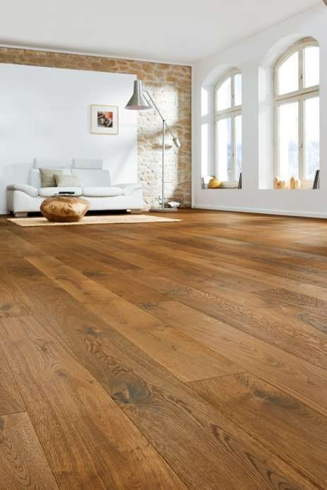 Gạch giả gỗ lát nền phòng khách