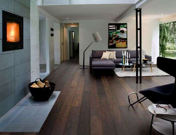 Gạch lát nền phòng khách vân gỗ