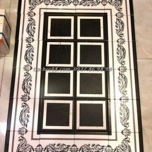 Gạch bông 20x20 màu đen đẹp