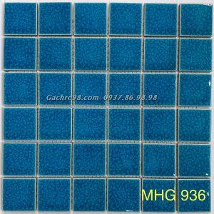 Gạch mosaic men rạn xanh nước biển