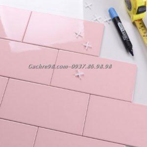 Gạch thẻ ốp tường màu hồng
