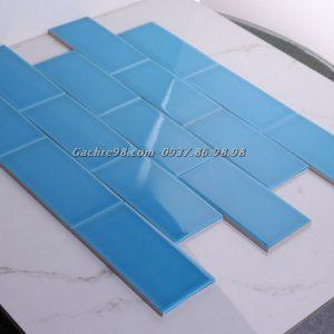 Gạch thẻ ốp tường màu xanh nước biển