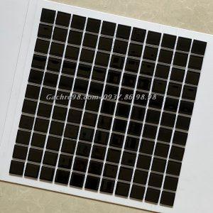 Gạch trang trí mosaic màu đen