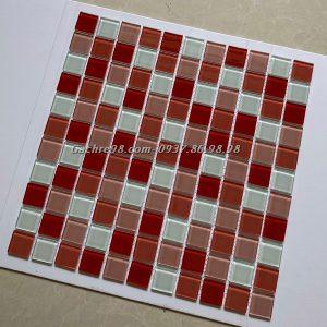 Gạch trang trí mosaic màu hồng