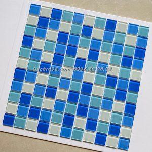 Gạch trang trí mosaic xanh nước biển