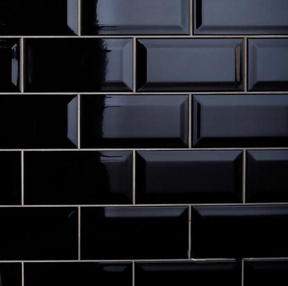 Map gạch thẻ ốp tường màu đen