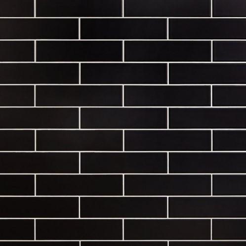 Gạch thẻ ốp tường đen 75x300