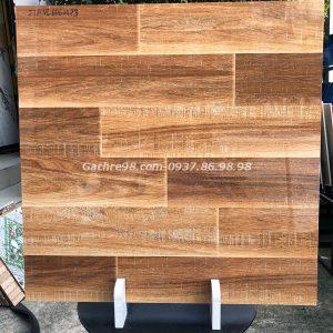 Gạch gỗ giả cổ 60x60 bóng kiếng