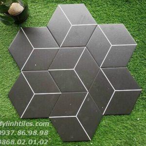 Gạch lục giác màu đen