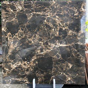 Gạch lát sàn 80x80 đá bóng kiếng màu đen